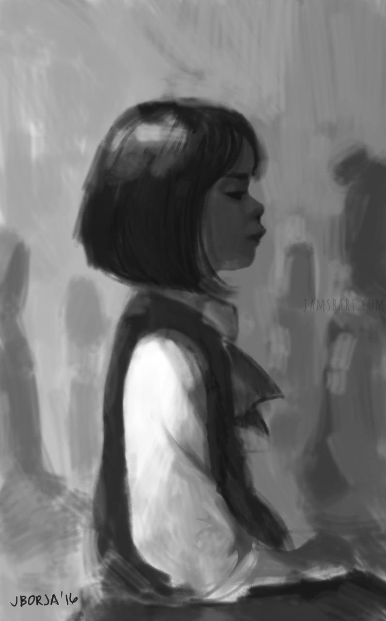 Random sketch from memory, 2016