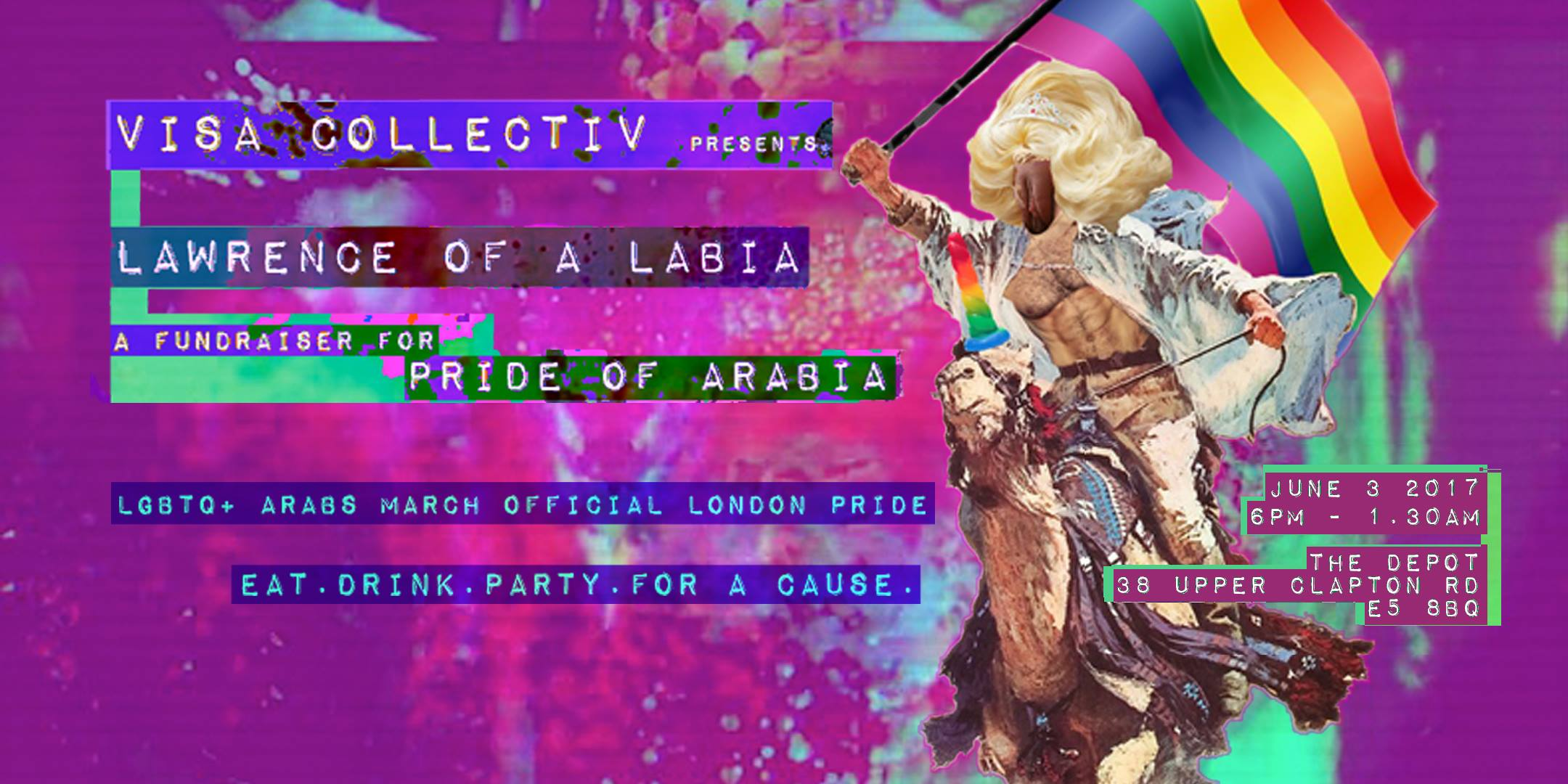 VISA COLLECTIV presents Lawrence of A Labia (fundraiser for PoA) - Saturday, 06.03.2017 The Depot, 38 Upper Clapton Rd, E5