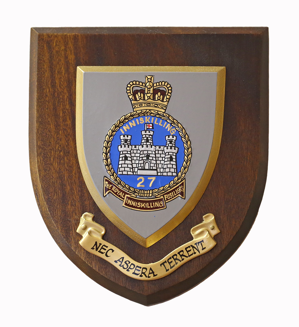 The Regimental Crest of the Royal Inniskilling Fusiliers