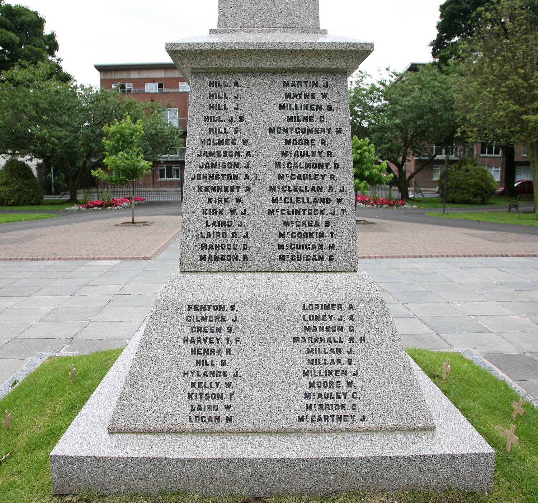 Ballyclare War Memorial - North Face