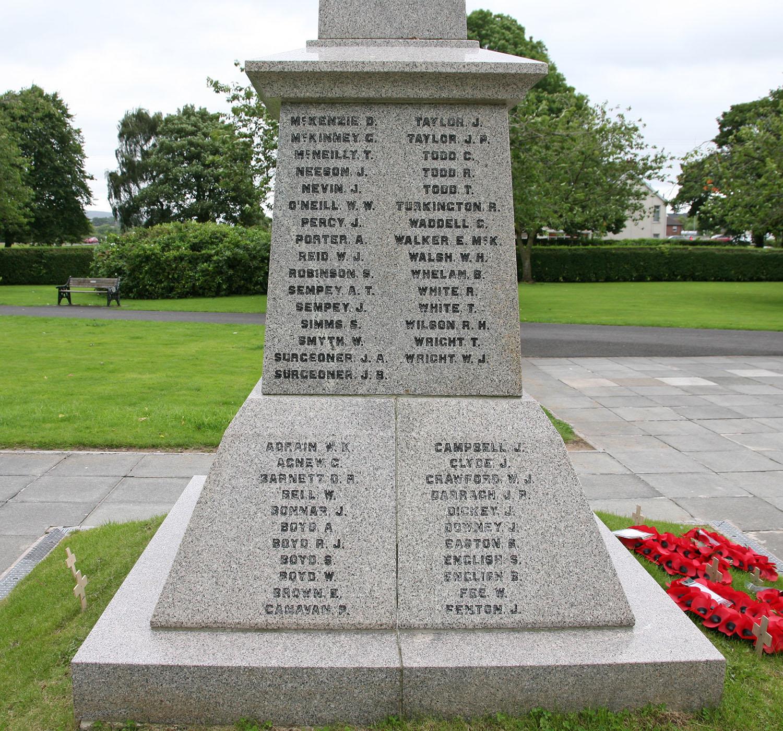 Ballyclare War Memorial - West Face
