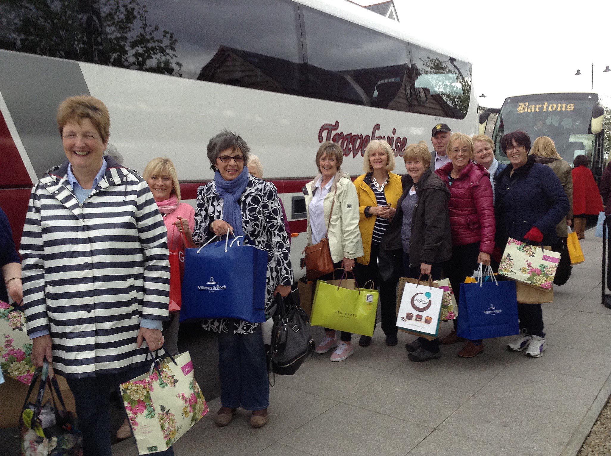 Let's shop till we drop! The bag ladies..