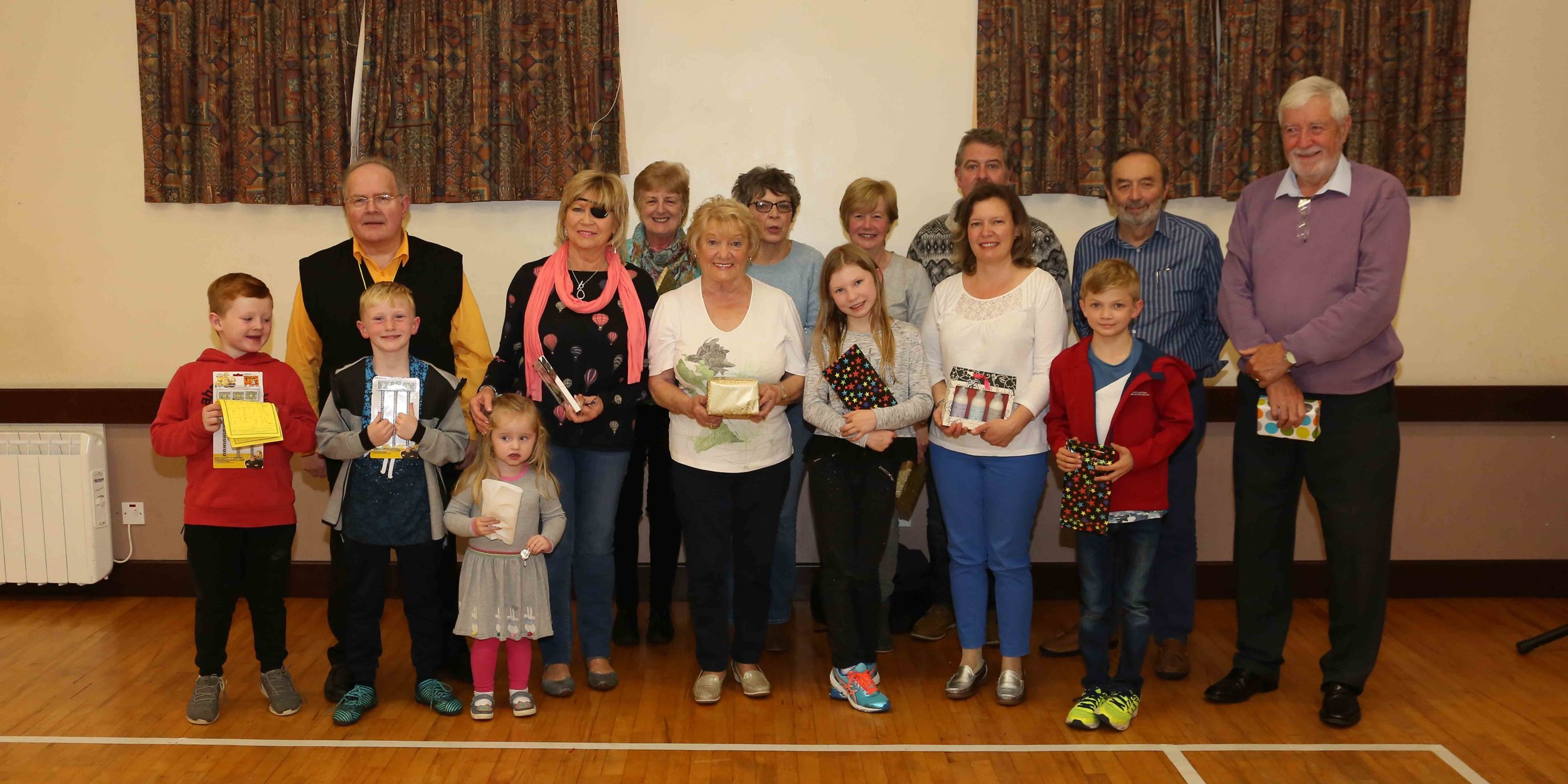 Prize winners at the beetle drive