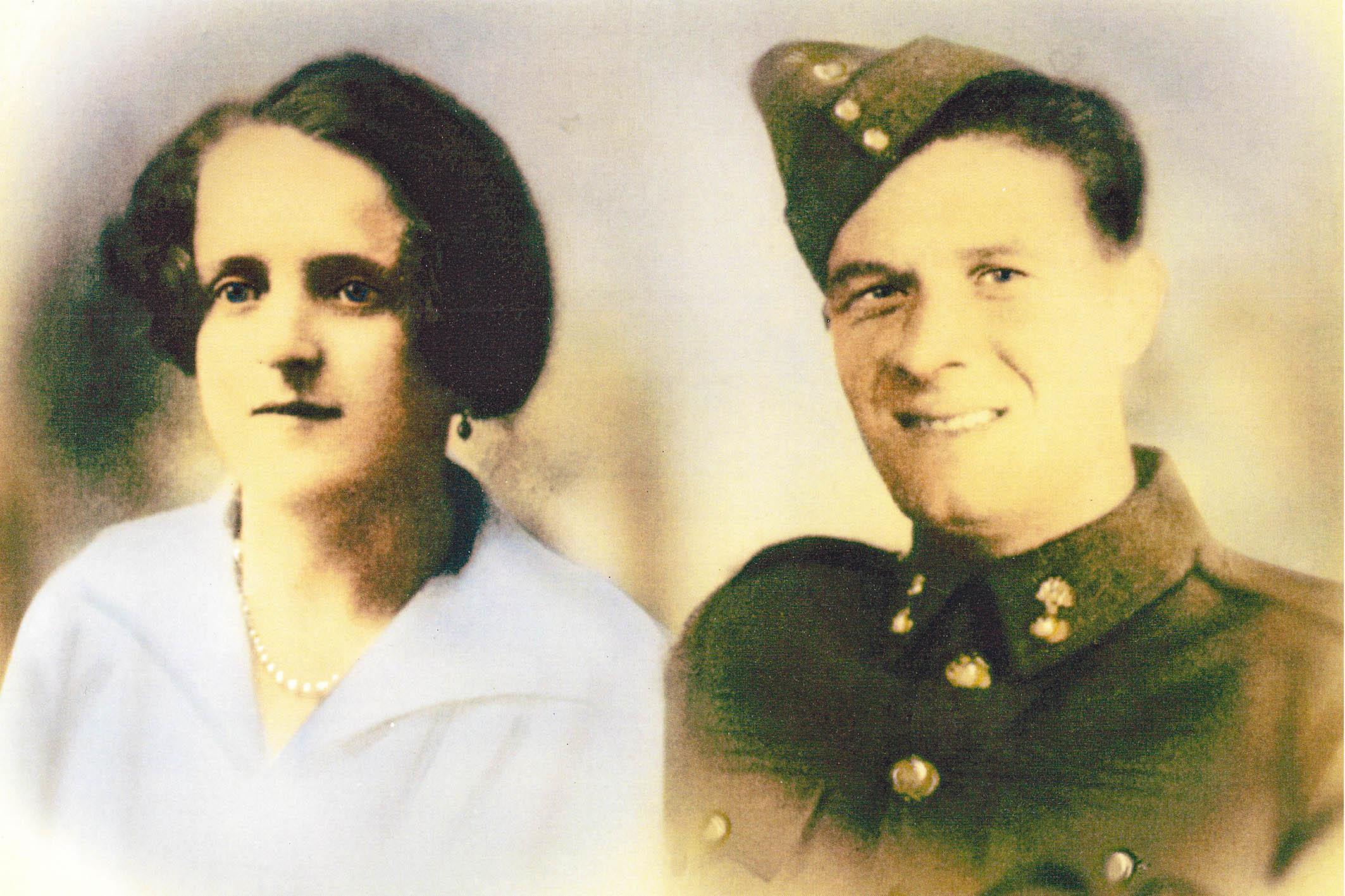 Fusilier John McGarvey and his wife Jane c. 1939