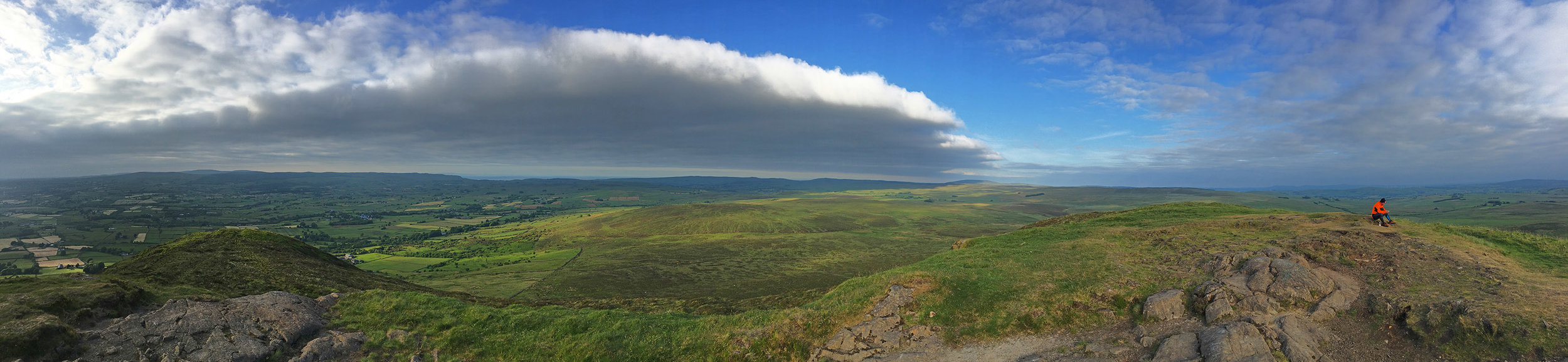 Panoramic view from the top of Slemish
