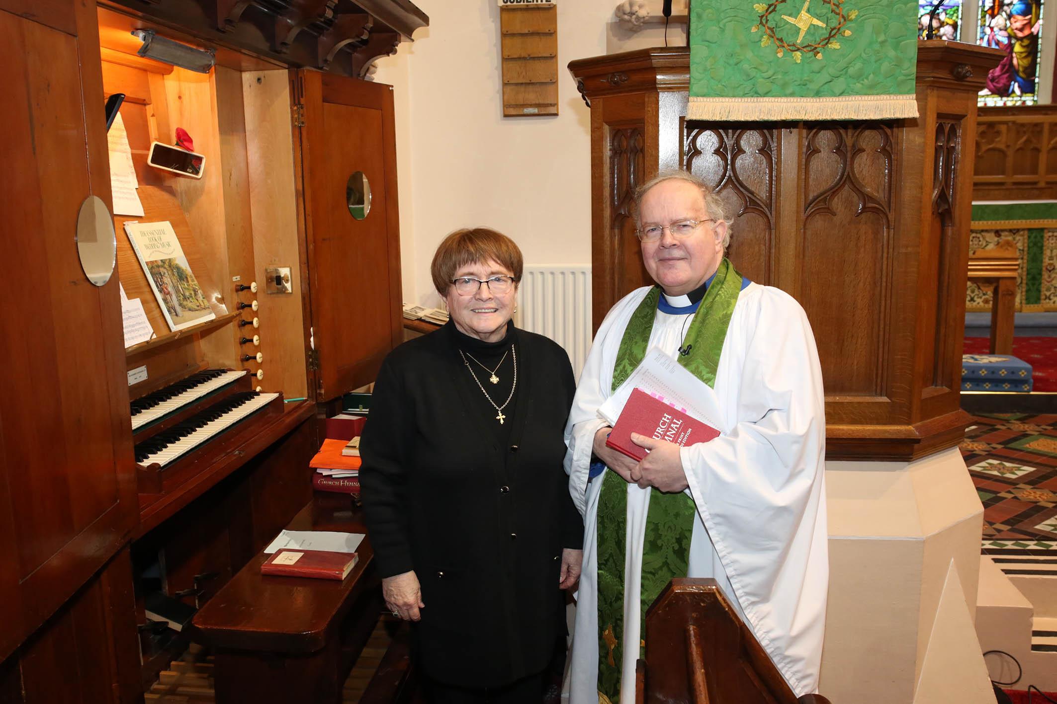 Valerie Ireland with David Humphries