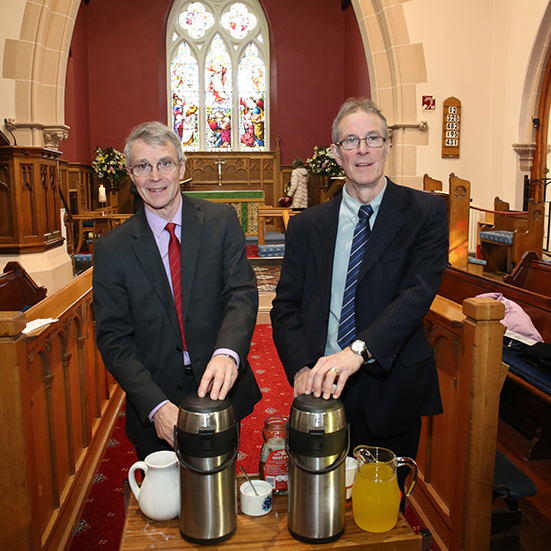 David and George Rea were on hand with tea and coffee.