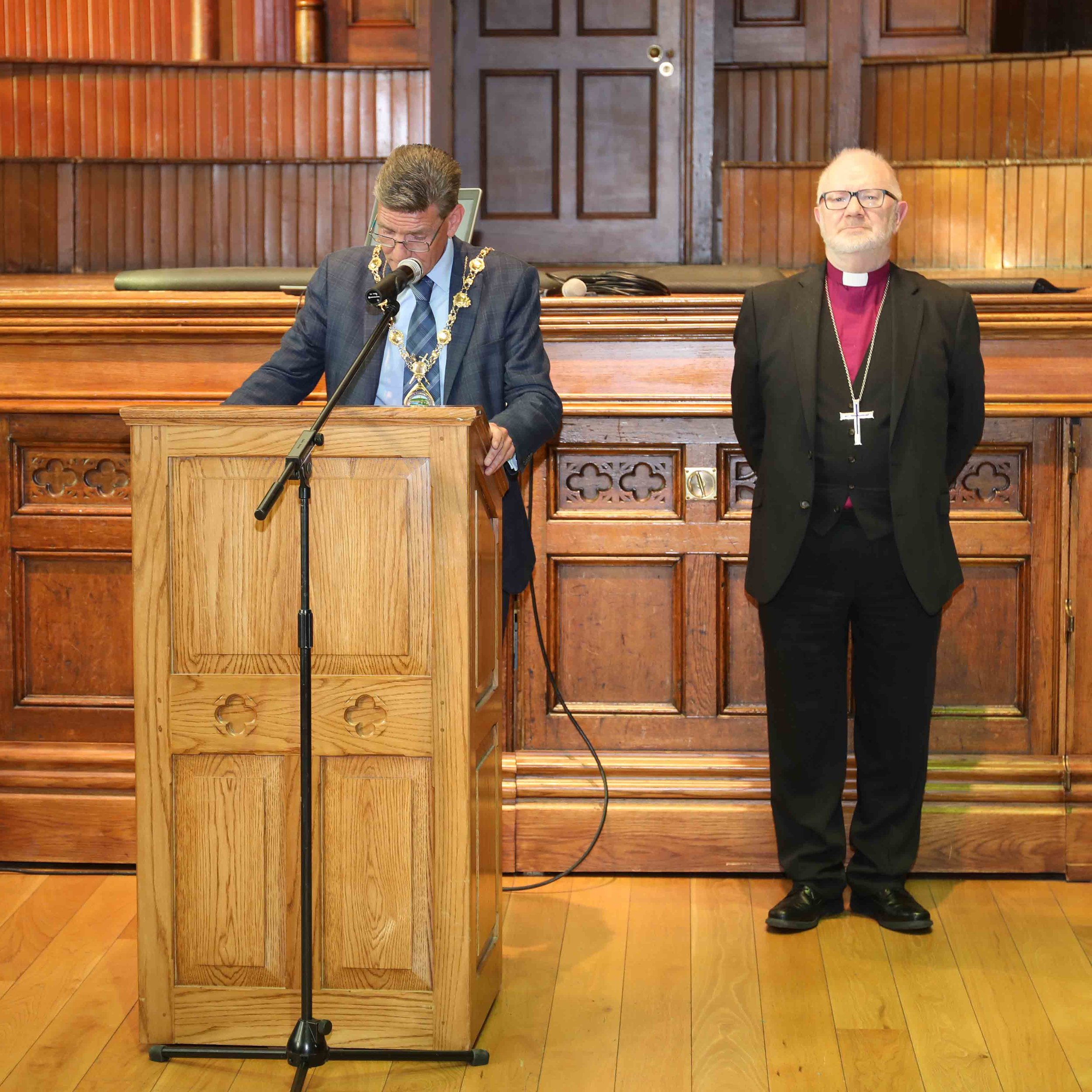 Mayor John Boyle addresses delegates