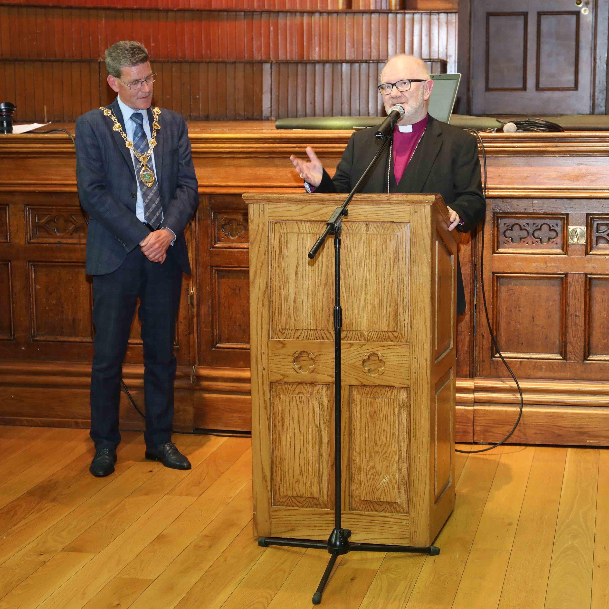 Archbishop Richard Clarke thanks the Mayor