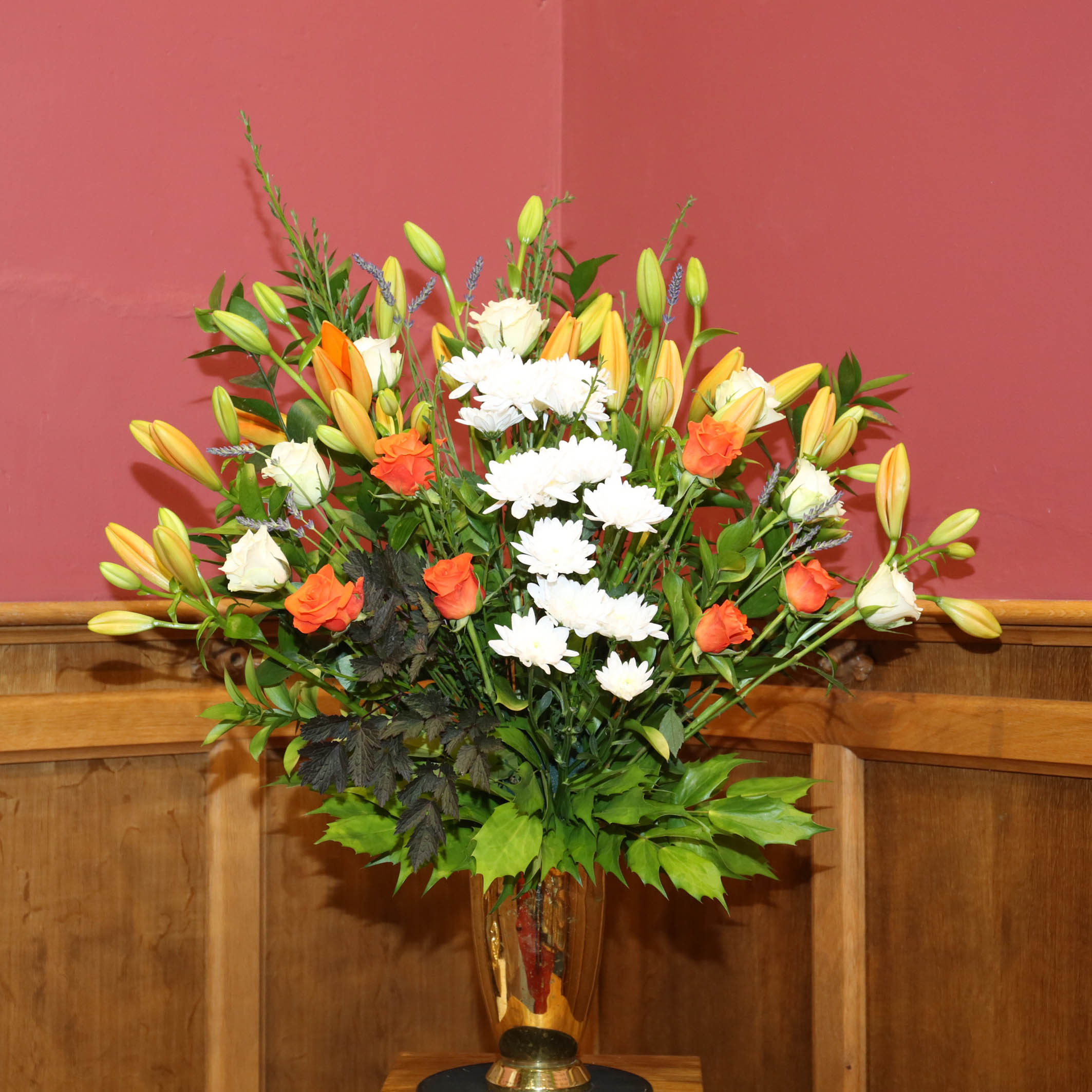 Floral Display in the Sanctuary for this morning's Holy Communion Service
