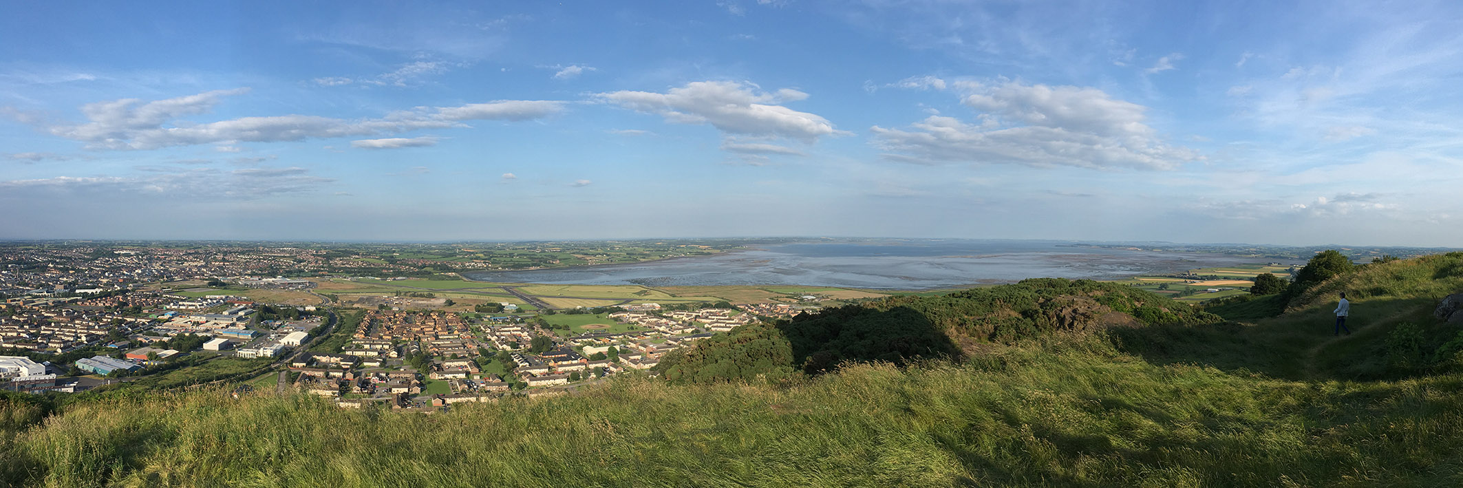 Newtownards and Strangford Lough from Scrabo Tower