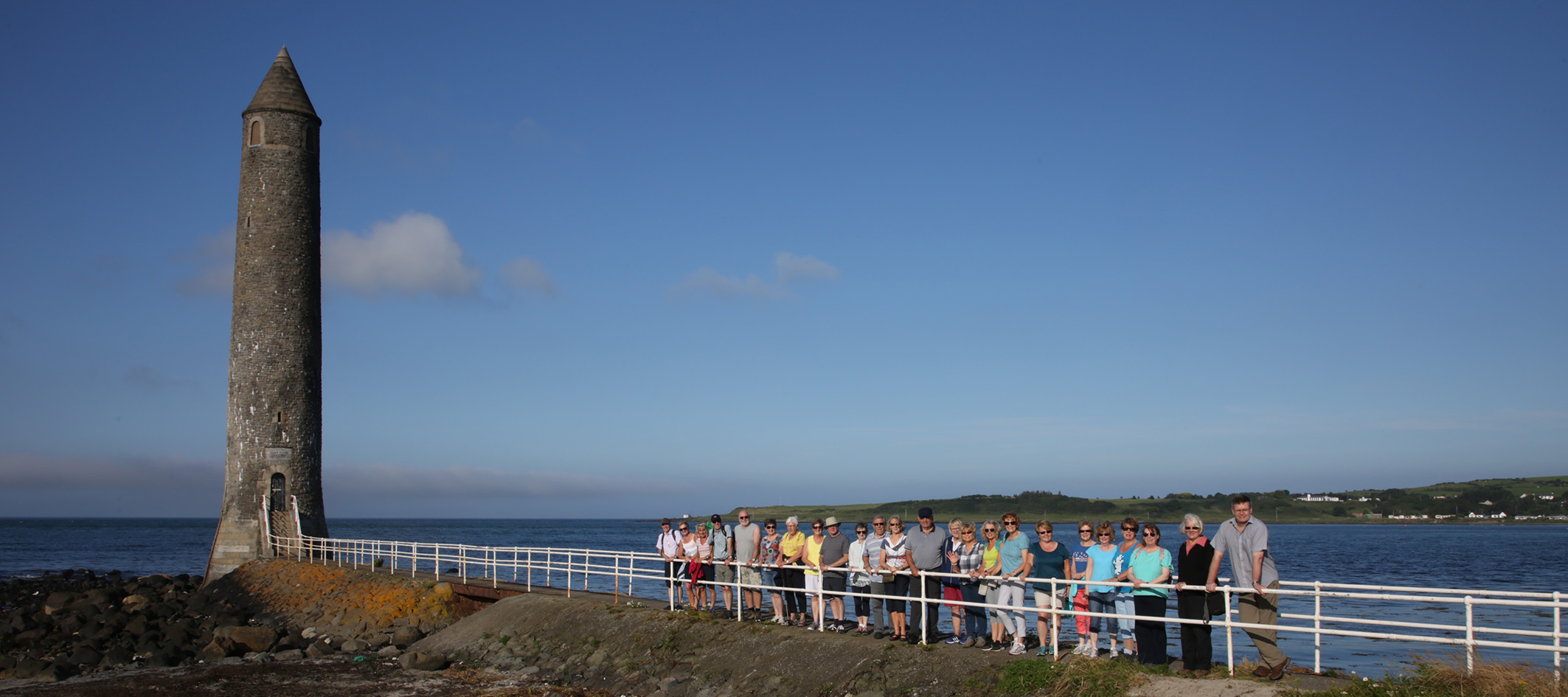 St Bride's Rambling Group at the Chaine Memorial Tower