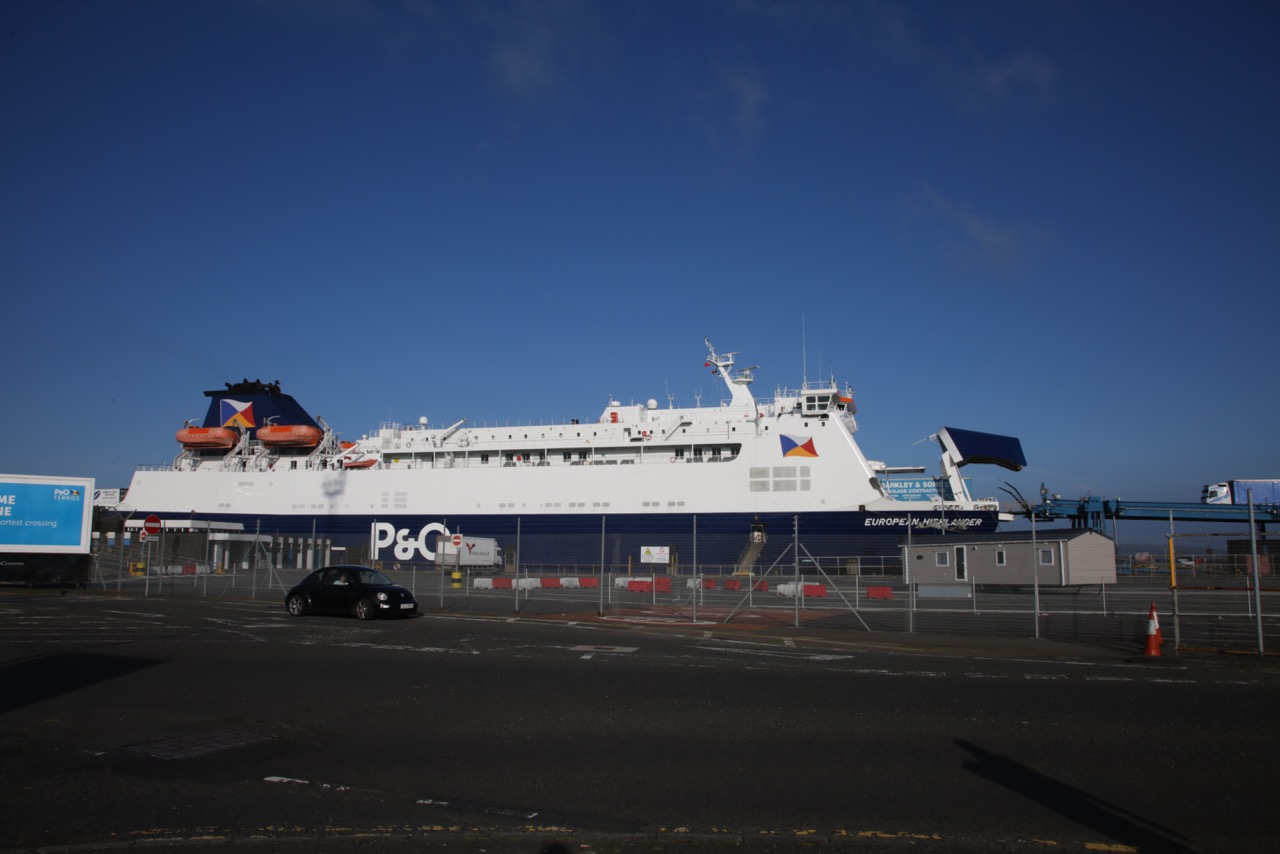 P & O ferry in Larne harbour