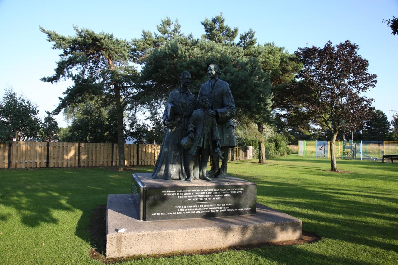 Ulster-American memorial in Curran park