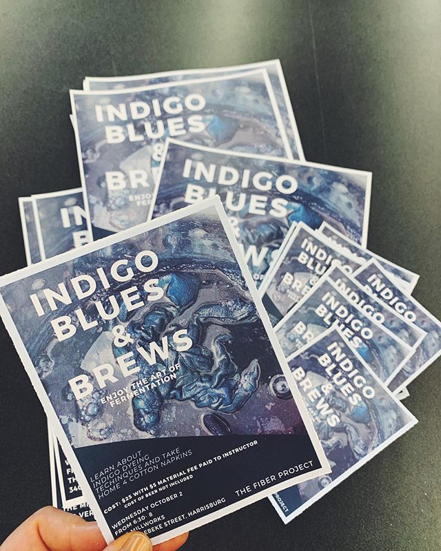 ✨I hope you'll join me next Wednesday, it's going to be a great night! ✨ 🔮Friends, indigo magic, fermented beverages🧙‍♀️ Bring a friend, learn a skill, enjoy life! All levels of creativity welcome. #indigomagic #indigo #themillworks #create #craftnight #thefiberproject #naturaldye
