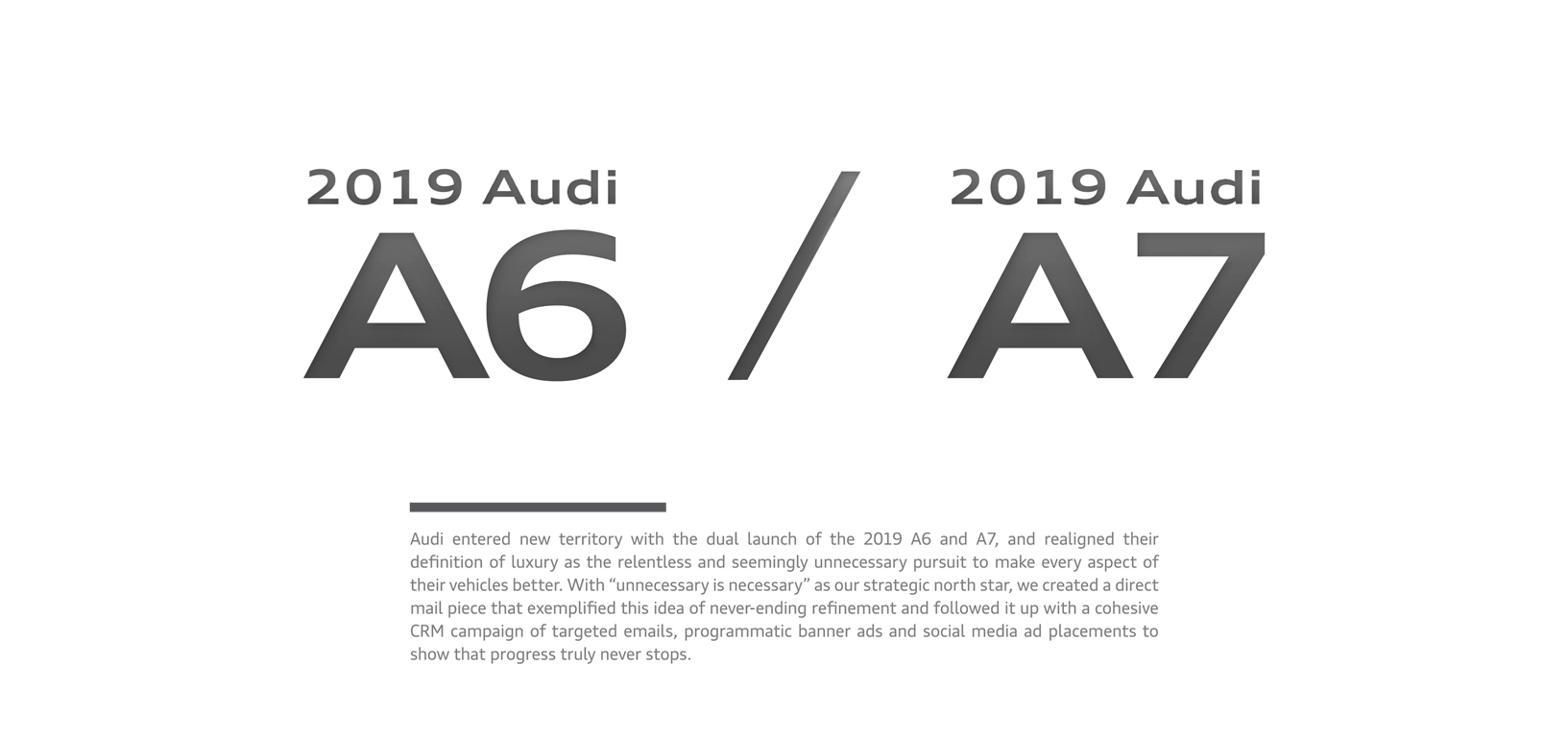Audi CRM Advertising