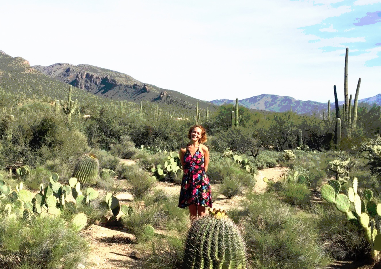 her happy place - Amongst the green ones in the warm sunshine of the southwest.Courtney Visits the Arizona Desert several times each year to harvest plant medicine, to study, write, self-reflect, and to bask in the warm desert sun.