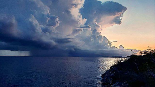 Beuatiful storm at sea last night.