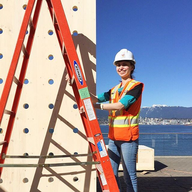 Welcome to Vancouver! @also_alsu is here all the way from Russia to help us with the build for PAUSE. She will be at TED2017 all week, so catch up with her at the pavilion and find out more about her inspiration for the project. #DBR #DesignBuildResearch #DesignBuild #DBRSchool #PAUSE #DBRPAUSE #yvr #yvrdesign #vanarch #vancouver #vandesign #TED #TED2017