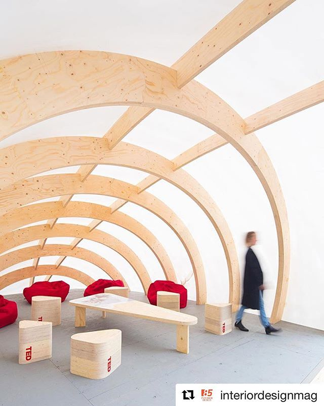Thank you to @interiordesignmag for posting ELEVATE. #repost @interiordesignmag ・・・ Elevate, a series of temporary structures by @DesignBuildResearch students, graced the entrance to the Vancouver Convention Centre during the @TED 2016 conference. Inspired by alpine shelters, the installation incorporated Laminated Veneer Lumber, a shrink wrap exterior, and custom furnishings. 📸: @EmaPhotographi. @sandow @also_alsu @tiarch @mgarchitecture . . . . . #wooddesign #wood #vanarch #wooddesign #metsawood #designbuildresearch #archdaily #details #wood #designyvr #mgaworld #woodworks #designbuild #mgarchitecture #designbuild #ted2016 #ted