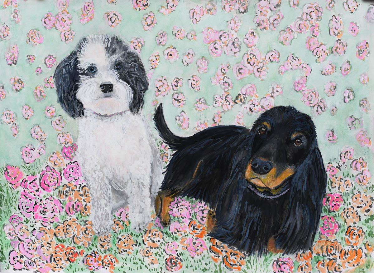 The Flower Girls ... Harper and Chloe