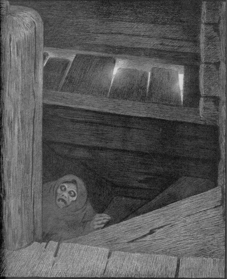 Theodor Kittelsen - Pesta i trappen, 1896