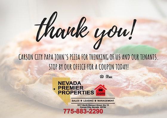 Thank you!  #papajohns