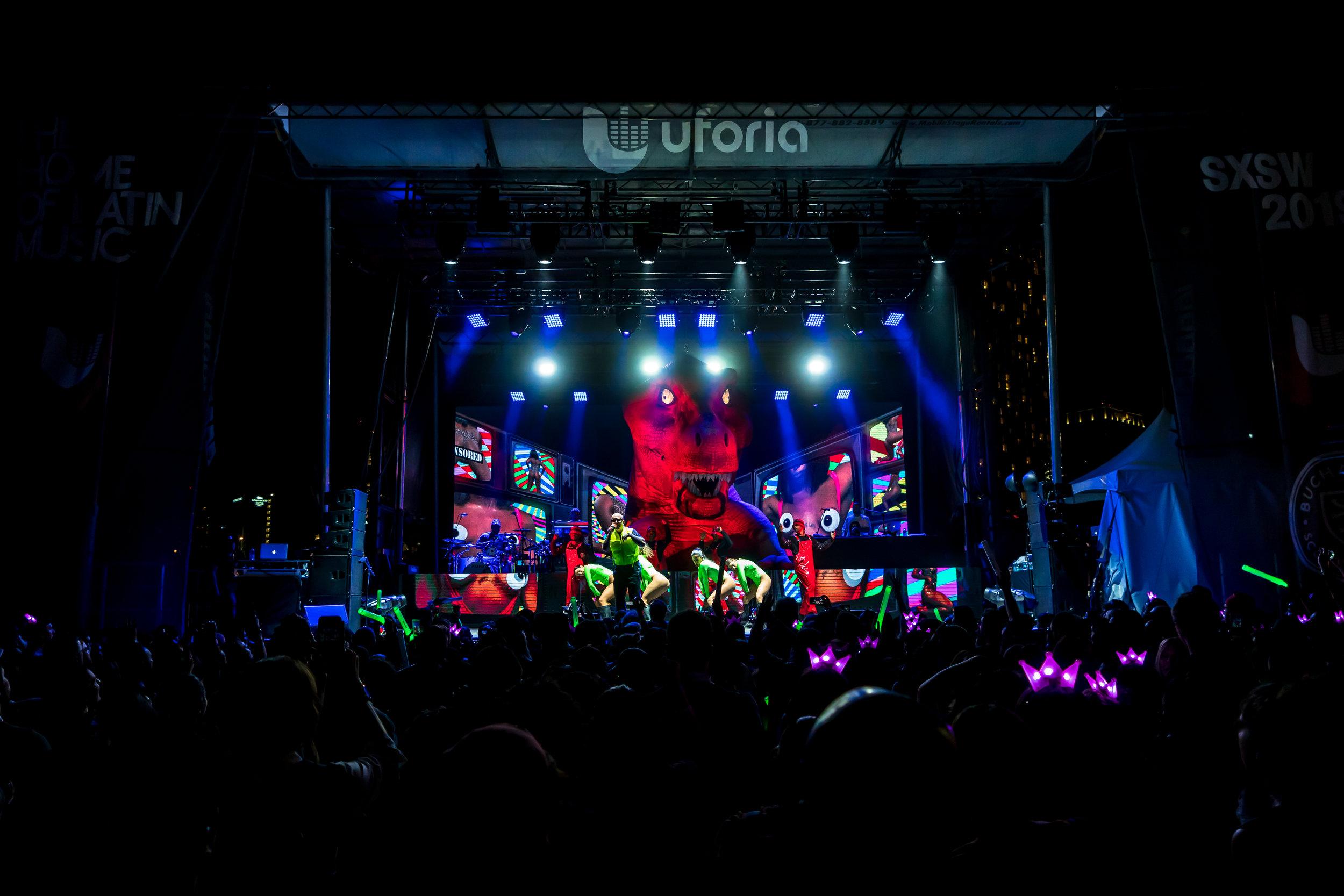 Univision - Uforia Radio Music   Showcase  feat. J Balvin - SXSW 2019. Image credit: @amilvisuals