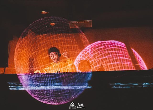 May the 4th be with you!  Here's a photo of @bboneless playing inside what looks like the Death Star plans from A New Hope ⚫️ 📸 @brittrosephoto . . #maythe4thbewithyou #starwars #videomapping3d #3dvisuals #modul8 #videomapping #projectionmapping #subchakra #boneless #dubstep #vinyl #theforceisstrongwiththisone