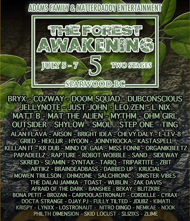 @syntax403 will be spinning an all vinyl set at The Forest Awakening this Sunday. Catch him on the main stage from 8-9PM. Ready, we!