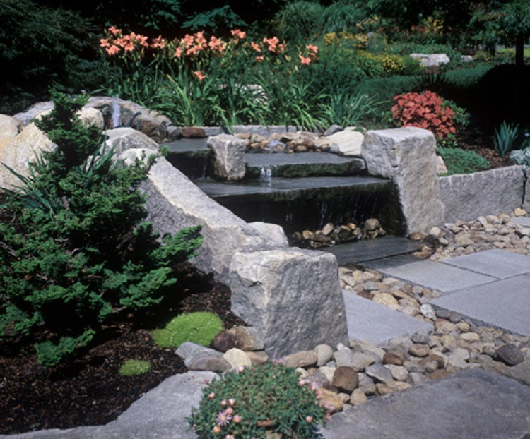 Fountain Garden water feature located outside the Cottage.