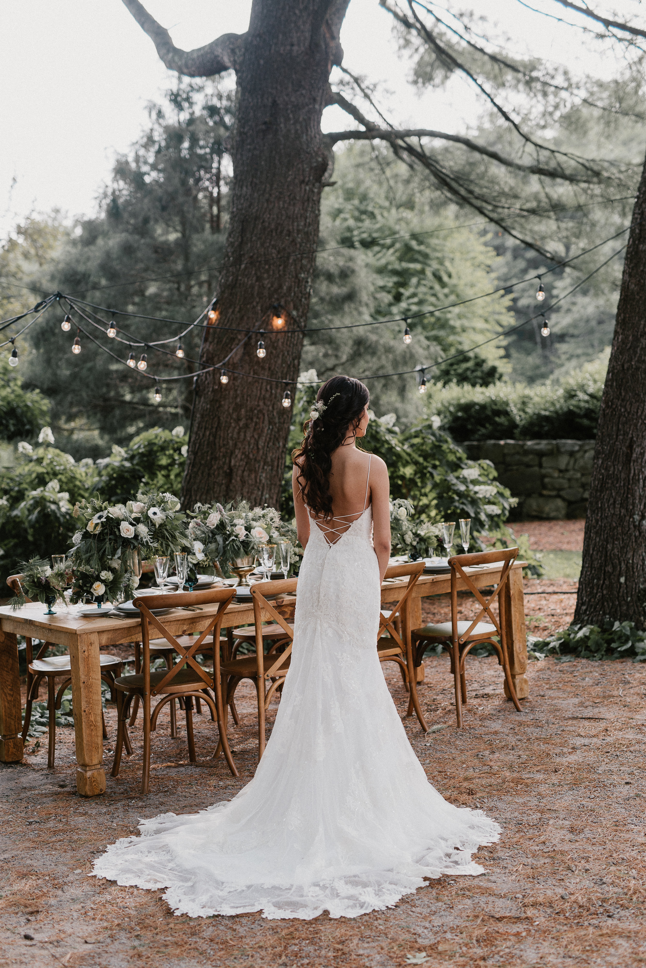 The Pine Grove - A stunning woodland setting for outdoor wedding ceremonies.