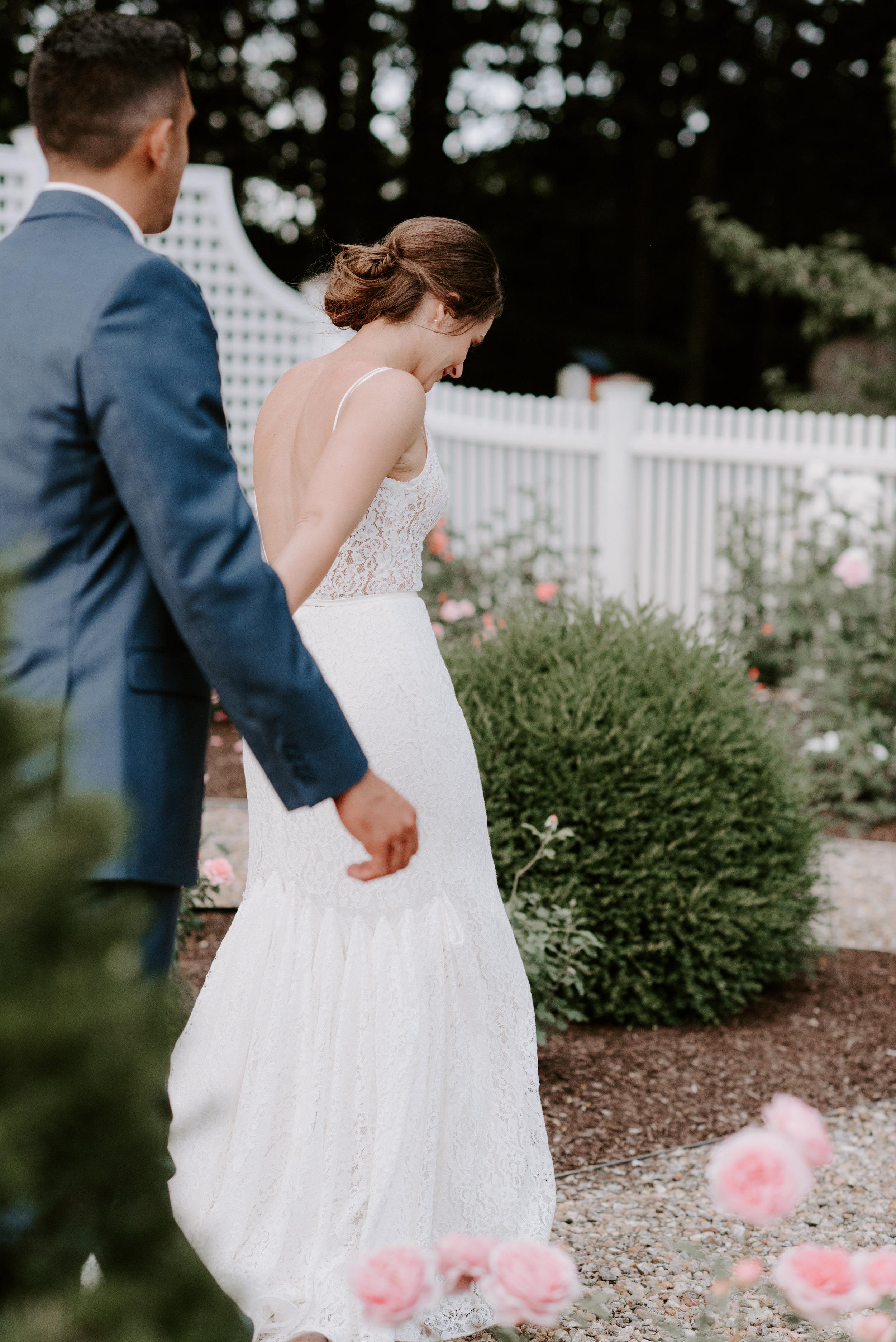 Formal Rose Garden - Beautiful, floral backdrop for outdoor wedding ceremonies.