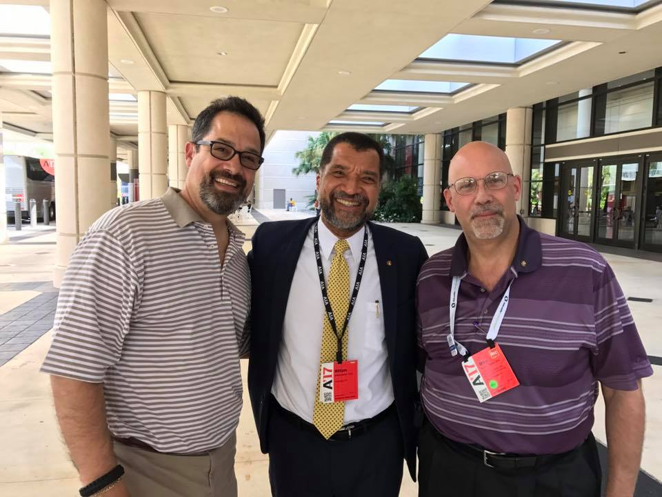 At AIA Orlando with AIA WHV VP Rick Torres, AIA and  Bill Bates, FAIA National President Elect. 2018