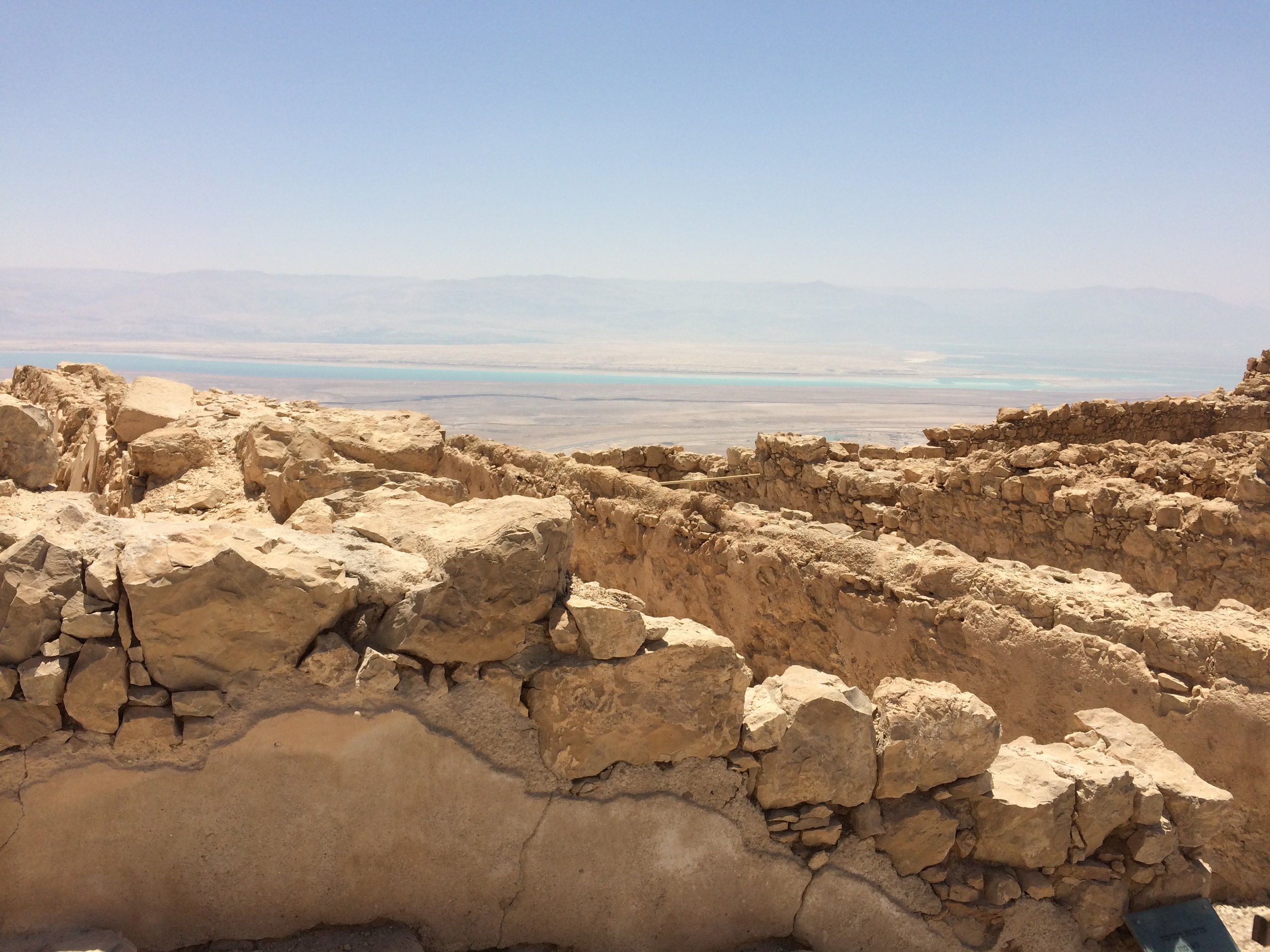 Masada, remnants of Herod's desert fortress