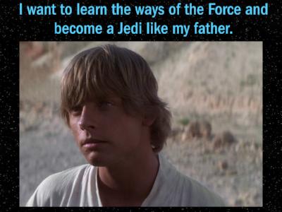 Luke beginning to tap into his growth mindset
