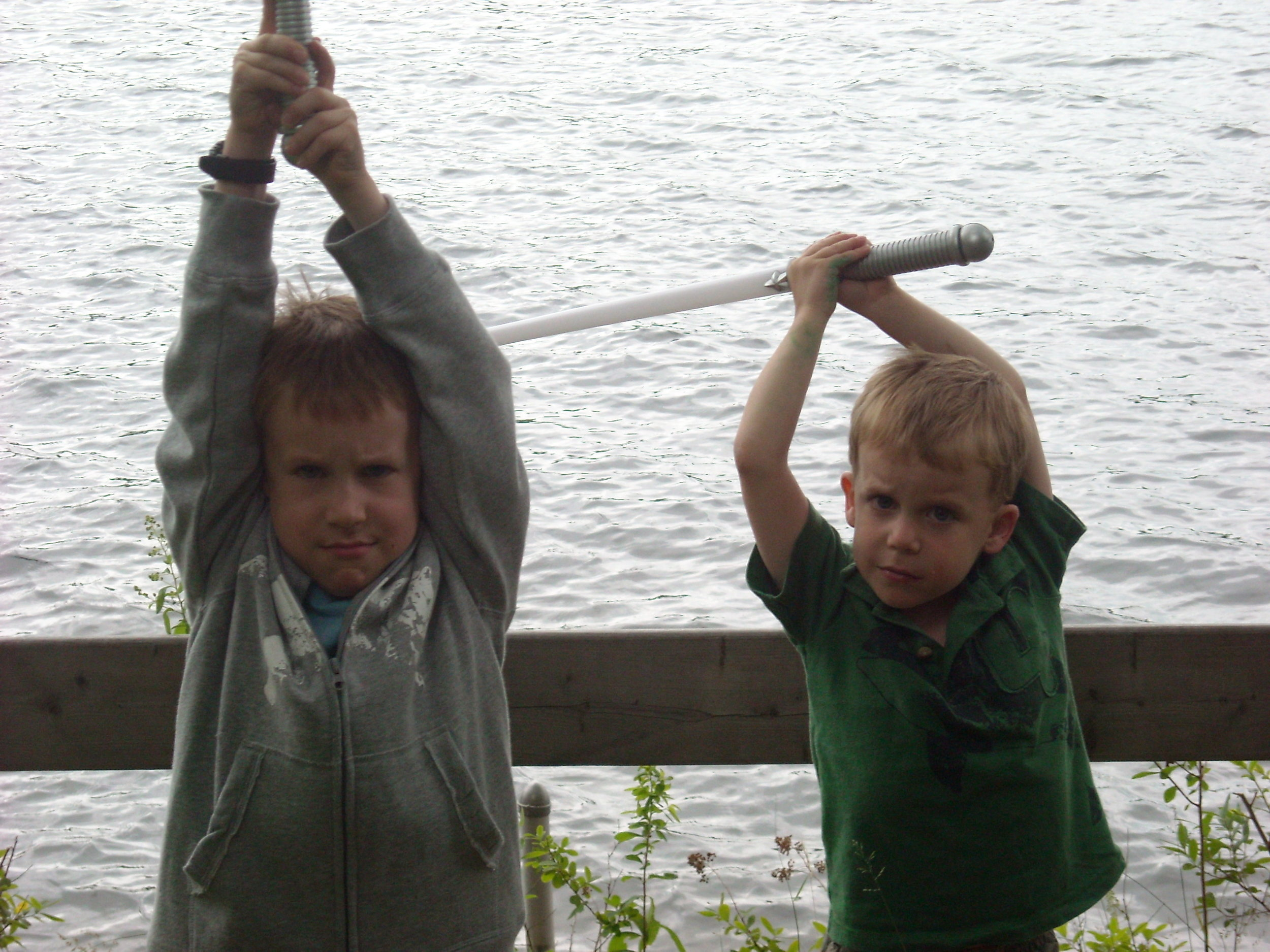 my nephews, Jack and Charlie learning at a young age