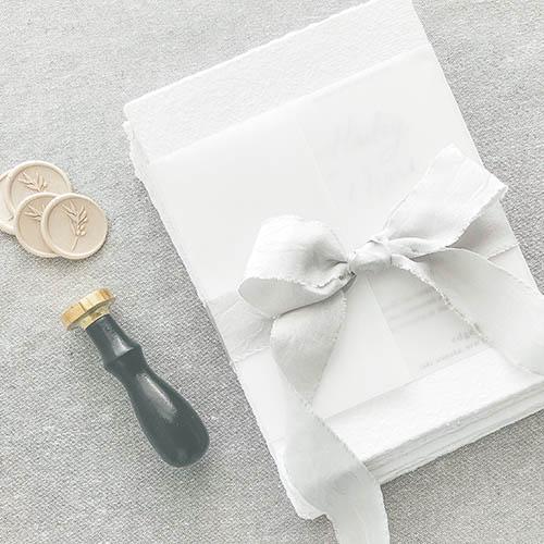 Wedding Invitations & Stationery | The Ess Letter | Deckled edge wedding set