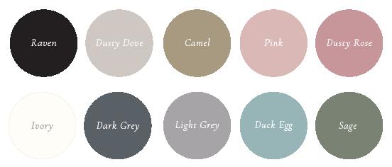 The Ess Letter | Wedding Envelope Colours - black envelopes, dusty pink envelopes, dark grey, light grey, ivory, pink, blue, green envelopes