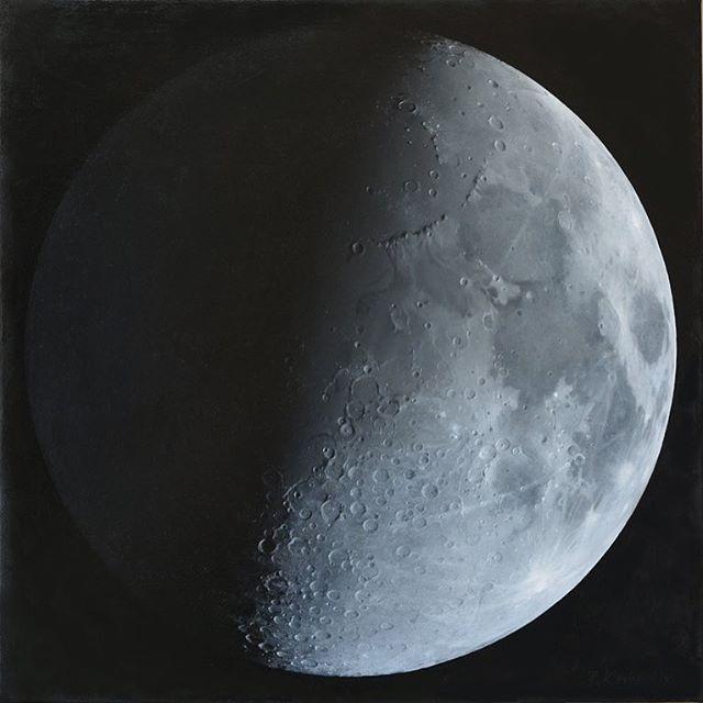 The #waning #moon.