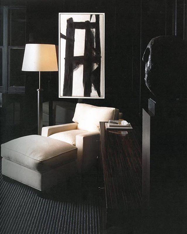 #blackbeauty courtesy of @tomford . . . #interiordesign #design #blackroom #interiors #designinspo #franzkline #blackandcream #blackandwhite