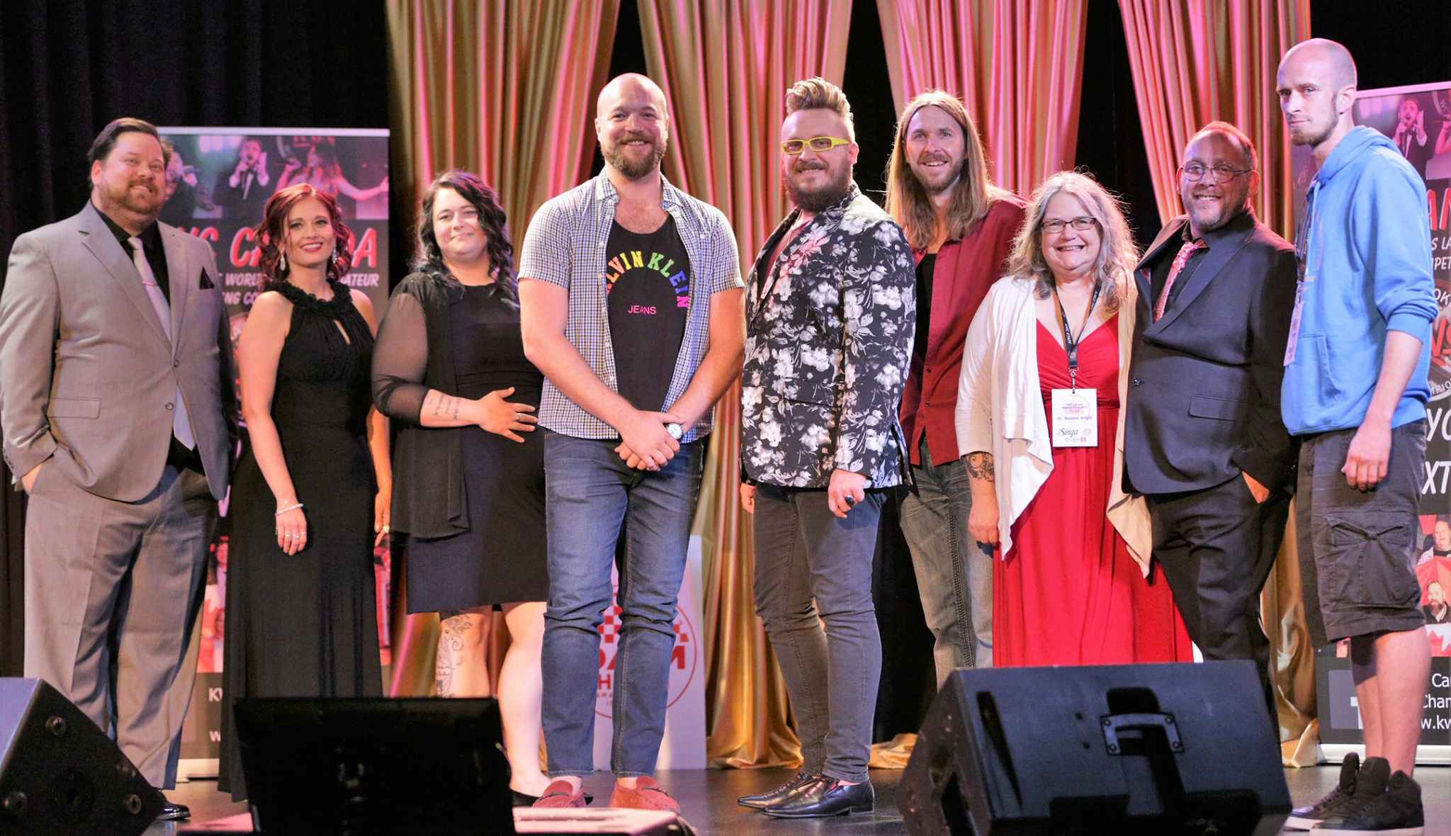 From left: Joey Oberhoffner, Christine Costa, Megan Ryan, Stylish Lumberjack, Jeff Edwards, Sean Britton, Suzanne Wright, Dustin Jodway, Rob Quinn