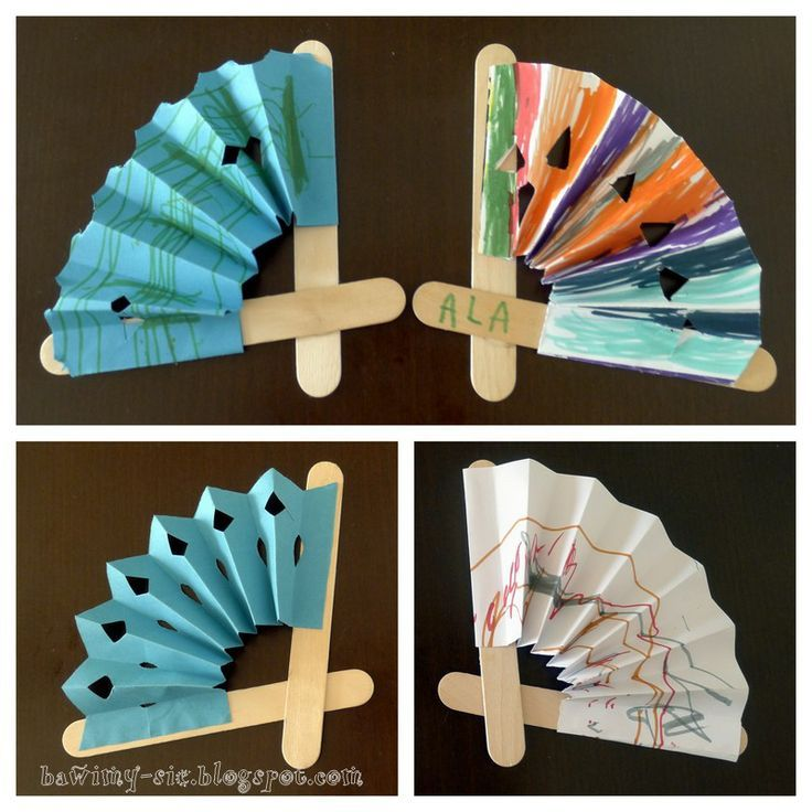 Paper Plate Hand Fan (Craft from July 28 2018)