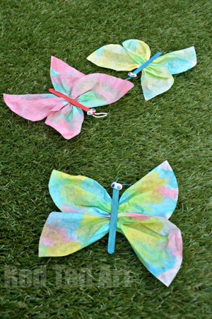 Coffee filter butterfly (Craft from July 7 2018)