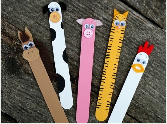 Popsicle Stick Barnyard Animals (Craft from May 18 2019)