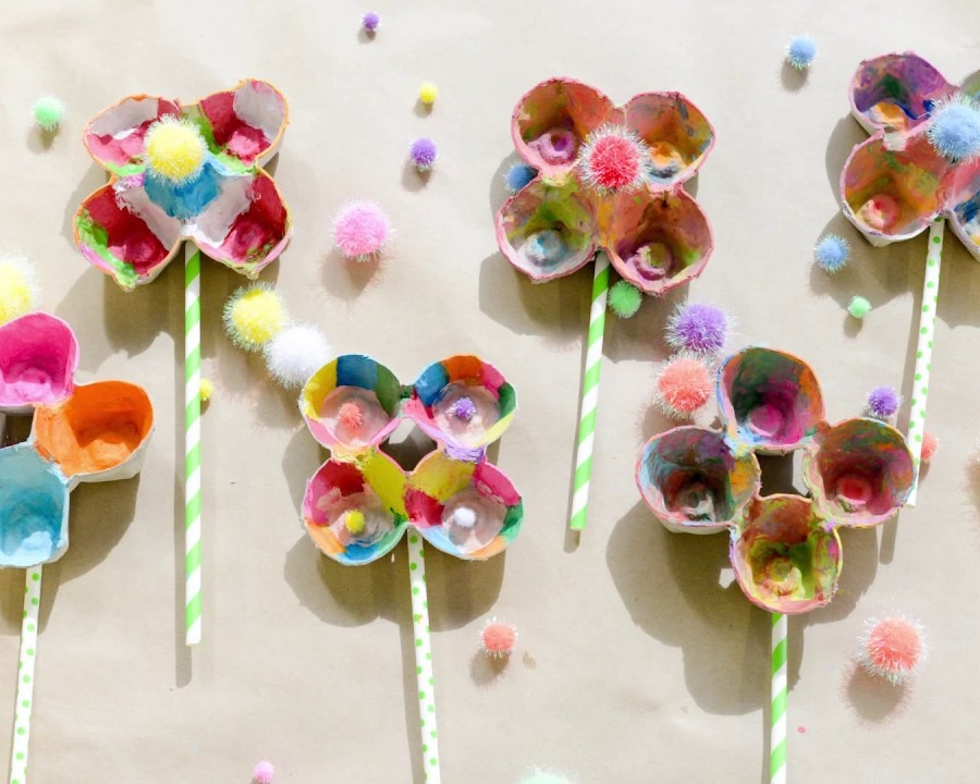 Egg Carton Flowers (Craft from May 11 2019)