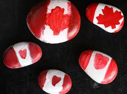 Canada Flag Painted Rock (Craft from June 29 2019)
