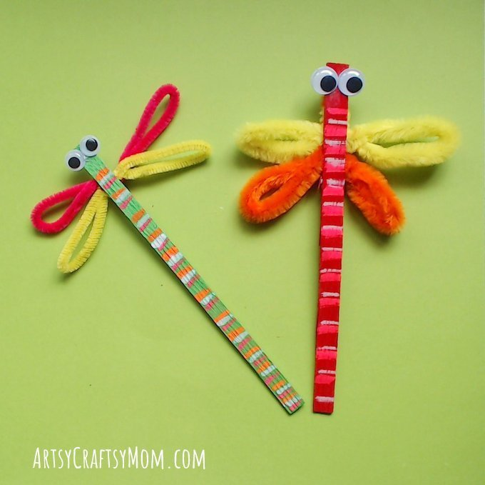 Clothes pin Dragon Flies (Craft from August 17 2019)