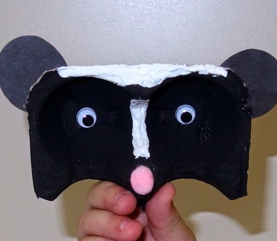 Egg Carton Finger Puppet Animals (Craft from August 24 2019)