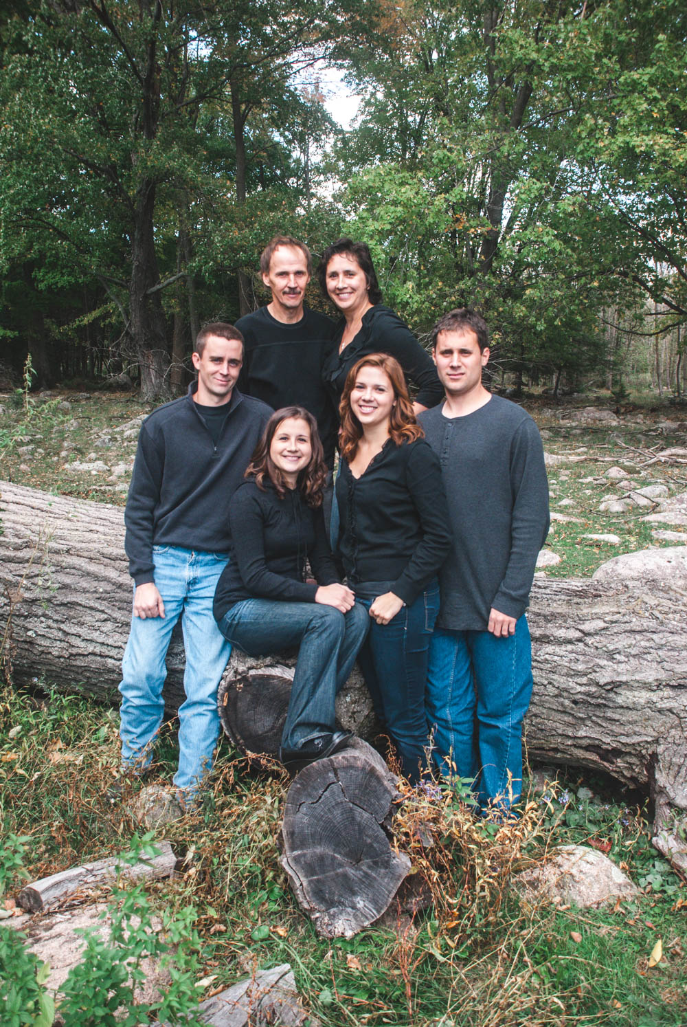 Rustic Wisconsin family portraits